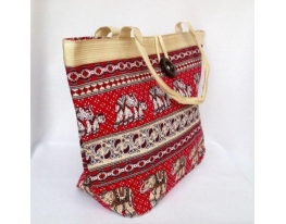 Пляжная текстильная сумка для пляжа и прогулок Индия фото