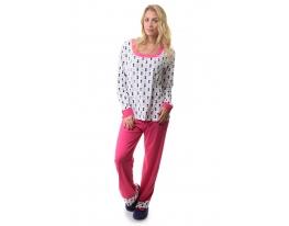 Пижама брюки кофта с длинным рукавом Памук Night Angel фото