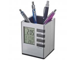 Настольная карандашница с часами фото