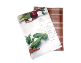 Набор кухонных полотенец Овощной салат фото