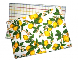 Набор кухонных полотенец Лимонная фантазия фото