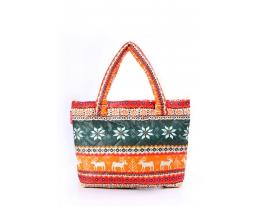 Дутая сумка Скандинавия Оранжевая Рoolparty фото