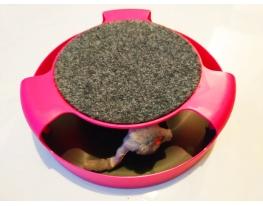 Когтеточка с игрушкой Сatch the mouse розовая фото 1