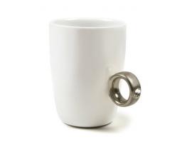 Чашка белая Серебряное кольцо с бриллиантом 250 мл фото