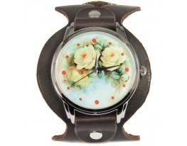 Эксклюзивные часы Белые розы фото