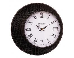 Часы в стиле крокодильей кожи Черные Leather Black фото