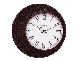 Часы в стиле крокодильей кожи Коричневые Leather Brown фото