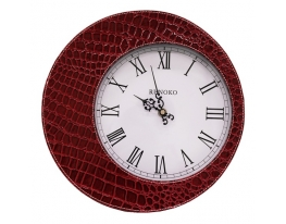 Часы в стиле крокодильей кожи Красные Leather Red фото