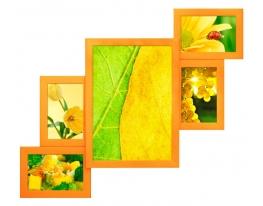 Мультирамка Оранжевая фото