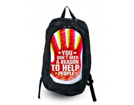 Рюкзак с фотопечатью Вам не нужен повод, что бы помогать людям фото