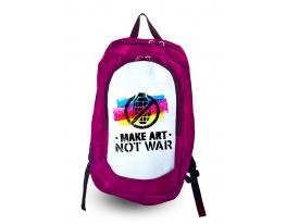 Рюкзак с фотопечатью Make art not war фото