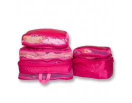 Дорожные сумки-органайзеры в чемодан ORGANIZE розовые фото, купить, цена