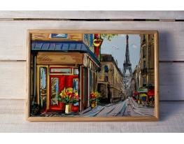 Поднос на подушке Парижская улочка
