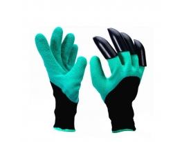 Садовые перчатки с пластиковыми наконечниками Garden gloves фото