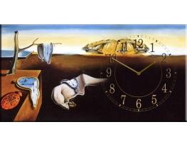 "Часы на холсте ""Постоянство памяти"" Сальвадор Дали фото"