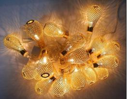 Гирлянда Груша Золото LED 20 Жёлтая фото