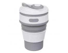Клонировать Чашка складная силиконовая Collapsible 5332 350мл, серая фото