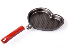 Сковорода рифленая Большое Сердце фото