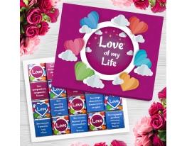 Шоколадный набор Love of my life 100г фото
