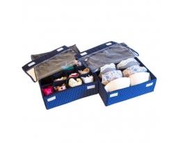 Комплект органайзеров для белья с крышками 2 шт Звездное небо фото