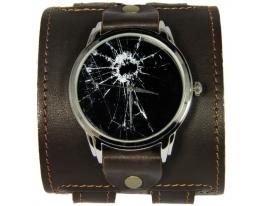Эксклюзивные часы Разбитое стекло фото