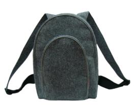 Рюкзак войлочный серый фото