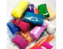 Тесто для лепки Детский пластилин Super Light Clay Niboshi 5D 14 цветов фото, купить, цена