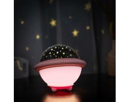 Проектор звездного неба Losso - детский ночник НЛО Розовый фото