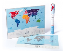 Скретч карта мира Travel Map Silver World фото