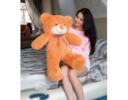 Плюшевый медведь Тедди 100 см Карамельный фото 3