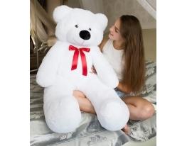 Плюшевый медведь Тедди 140 см Белый фото 3