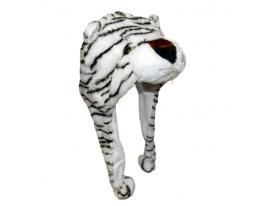 Шапка с ушками Белый тигр фото