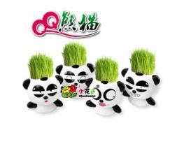 Керамический травянчик с семенами Панда фото