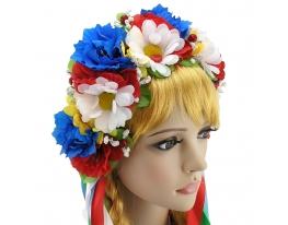 Украинский венок Злата с ромашками фото