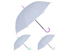 Зонт-трость полуавтомат ПВХ Перышки фото