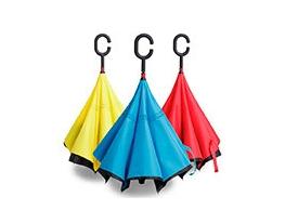 Ветрозащитный зонт обратного сложения UP-brella однотонный фото