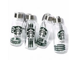 Бутылочка для воды Starbucks Coffee 300 мл стекло фото