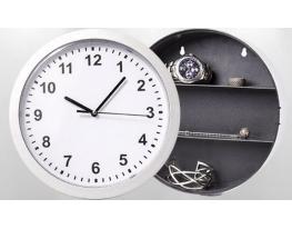 Настенные часы-сейф Safe clock Серебристые фото