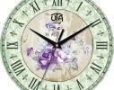 Часы настенные круглые Цветы фото