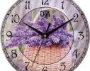 Часы настенные круглые Сирень фото