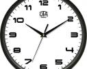 Часы настенные круглые черные Классика фото