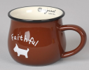 Керамическая чашка Smile коричневая фото