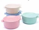 Кастрюля с крышкой-тарелочкой для запаривания каши, лапши или хранения пищи фото 3