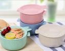 Кастрюля с крышкой-тарелочкой для запаривания каши, лапши или хранения пищи фото 1