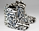 Комнатные тапочки Белый леопард размер 36-37 фото 1