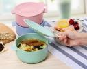 Кастрюля с крышкой-тарелочкой для запаривания каши, лапши или хранения пищи фото 2