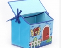 Короб Домик - органайзер для игрушек и вещей голубой фото