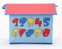 Короб Домик - органайзер для игрушек и вещей голубой фото 1