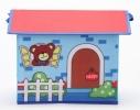 Короб Домик - органайзер для игрушек и вещей голубой фото 3