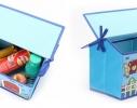 Короб Домик - органайзер для игрушек и вещей голубой фото 5